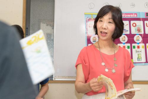 授業をしているおぐら先生の画像